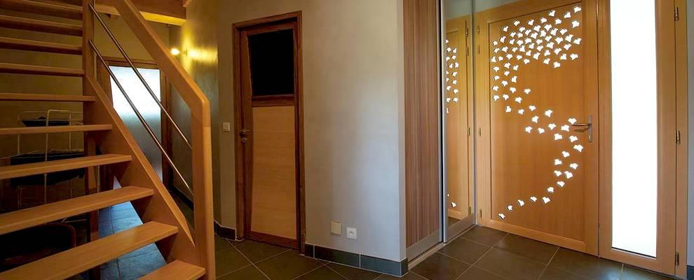 Construction escalier sur-mesure menuiserie bois nantes