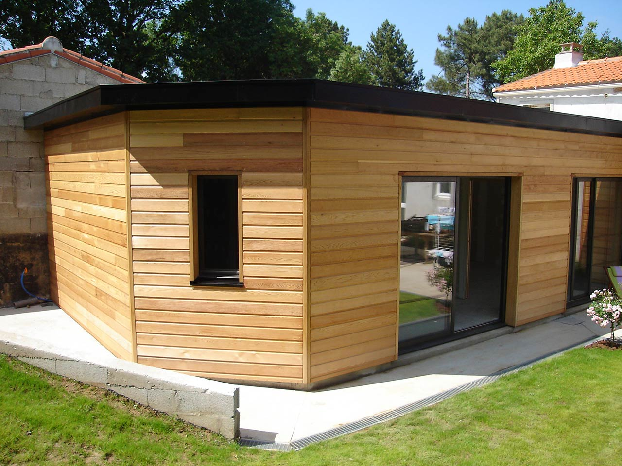 Extension habitation extension habitation bardage with extension habitation excellent for Habitation en bois