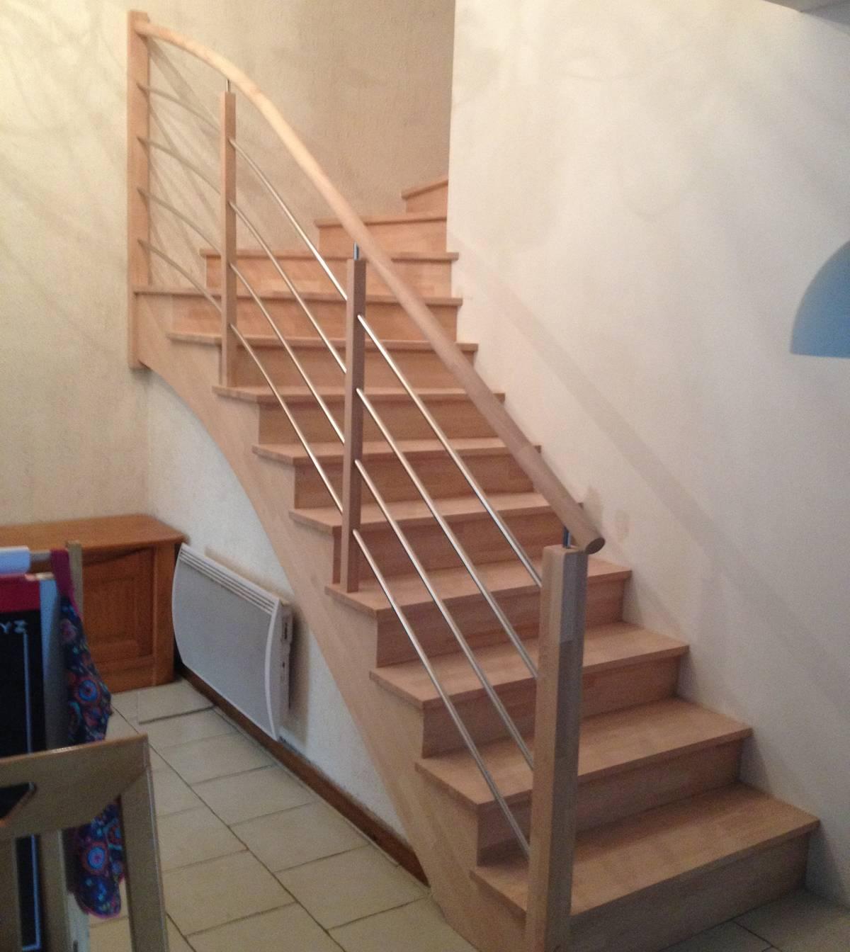 habillage escalier en béton  grégoire menuiserie